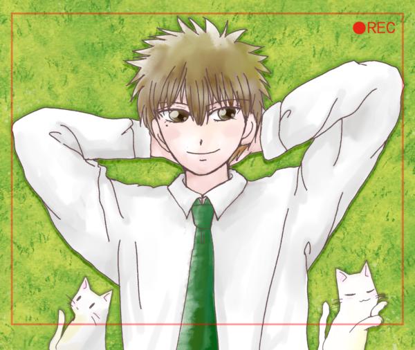 猫と芝生と歌詞太郎さん